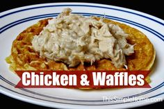 Chicken and Waffles Recipe. If you like chicken and biscuits, you have to try chicken and waffles. It is surprisingly delicious.