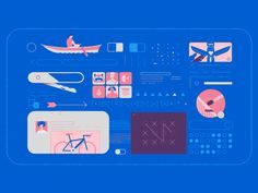 A backpack and a bunch of other stuff. by Jorge R Canedo Estrada - Dribbble