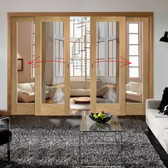 Easi-slide oak full pane sliding door system in four size widths with clear glass and sliding track frame. Wooden Sliding Doors, Sliding Pocket Doors, Internal Sliding Doors, Sliding Door Systems, Sliding Barn Door Hardware, Sliding Glass Door, Glass Doors, Door Latches, Window Hardware