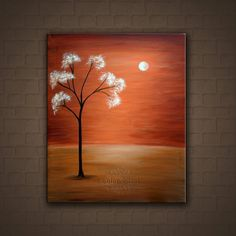 art landscap, art idea, landscape paintings, origin paint, neutral wall, trees, tree paintings, bloom tree, paint bloom