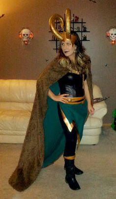 Lady Loki DIY Costume...  JENNNNNNNNNNNNNNNNNNNNNNNNNNNNNNNNNNNNNNNNNNNN DOTH MOTHER KNOW THOU WEARETH HER DRAPES JENNNNNNNNNNNNNNNNNNNNNNNNNNNNNNNNNNNNNNNN