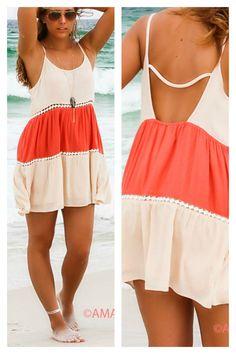 Give Me A Reason Coral Open Back Peasant Dress