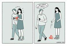 Sundae Kids, Couples Comics, True Love, My Love, Short Words, Love Illustration, Cute Comics, Comic Strips, Cute Couples