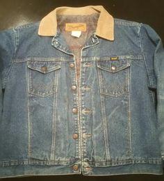 Vintage Wrangler Wool Lined Jacket - Wrangler Jacket - Mens Vintage Jacket  - Denim Jacket - Vintage Blue Jean Jacket - Wrangler Jacket by MyHailiesHaven on Etsy