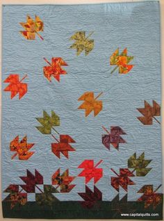 Charming Challenge 2013 THIRD PLACE, maple leaf block | Kathy Fraeman