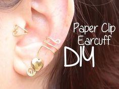 Cute DIY Paperclip Ear Cuffs - Gwyl.io
