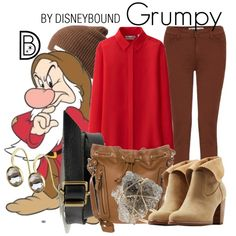 Grumpy by leslieakay on Polyvore featuring polyvore fashion style Uniqlo UGG Australia New Look Topshop Madewell Neff 7 For All Mankind disney snowwhite disneybound