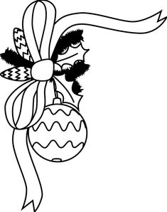 clip art black and white black and white candy cane with bow rh pinterest com
