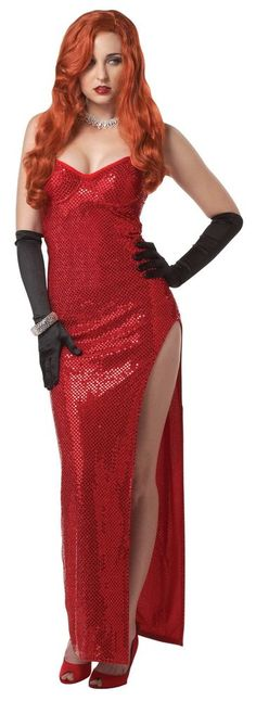 Buy this glamorous women's Jessica Rabbit fancy dress costume online to stand out at your next costume party. High quality women's Jessica Rabbit costume by California Costumes. This versatile women's red sequined gown costume is in stock now! Movie Star Costumes, Movie Halloween Costumes, Adult Costumes, Costumes For Women, Party Costumes, Halloween Party, Roger Rabbit, Jessica Rabbit Kostüm, Costume Hollywood