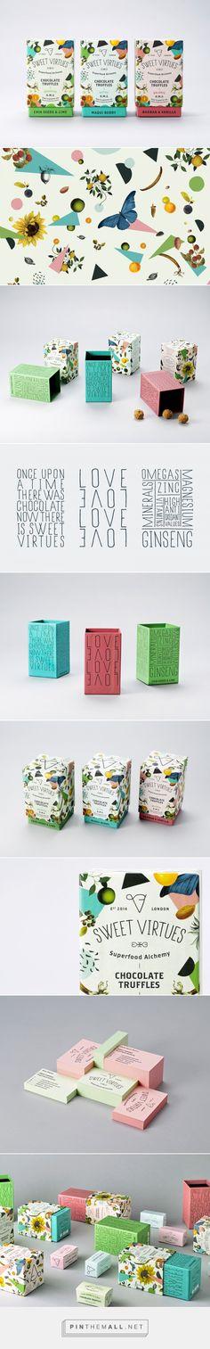 Sweet Virtues #chocolate #truffles #packaging #design by IWANT Design - http://www.packagingoftheworld.com/2017/04/sweet-virtues.html