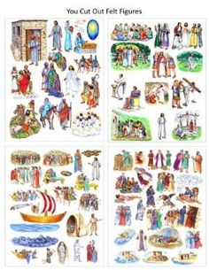 Buy 13 Jesus Bible Stories Parables Miracles Birth Crucifixion - Felt Figures for Flannel Board- You Cut Felt by C-Toy&Game