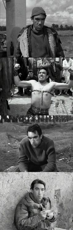 The brutal, strongman Zampano in La Strada 1954 Sheer physical, brutal strength and thoughtlessness is everything.