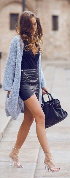 50 Stylish New Looks For Summer - Style Estate - Weekday Blue Fuzzy Cardigan