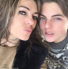 Doppelgangers! Elizabeth Hurley and her son Damian looked spookily similar in a new selfie...