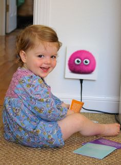 Childproof Charging Station with USB port and 3 outlets!