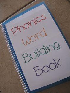 Random Craftiness: Phonics Word Building Book