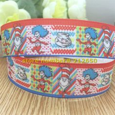 New arrival 7/8'' (22mm)  printed Polyester Grosgrain cartoon ribbon gift package DIY accessories 151222 code D12