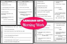 Third Grade Language Arts Morning Work
