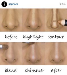 Amazing nose reducing tutorial from Sephora!