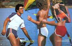 Because The Shorter The Better! 80s Fashion Men, Sport Fashion, Men's Fashion, Fashion History, Fashion Trends, James Macarthur, 70s Aesthetic, Cute White Boys, Vintage Underwear