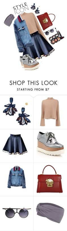 """""""Untitled #44"""" by nechi-gudelsky ❤ liked on Polyvore featuring Tory Burch, Proenza Schouler, STELLA McCARTNEY, Jamie Wei Huang, Dolce&Gabbana, Boohoo and Laura Geller"""