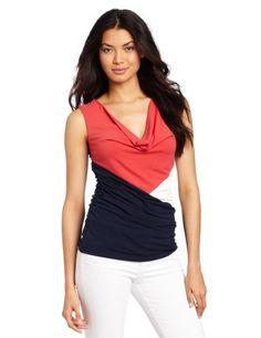 Three Dots Red Women's Colorblock Draped Cowl Top, Dress Blue, Small Three Dots,http://www.amazon.com/dp/B009Q2EIQU/ref=cm_sw_r_pi_dp_tzd1qb10BN7XK07N