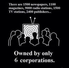 """""""The corporate grip on opinion in the United States is one of the wonders of the Western world. No First World country has ever managed to eliminate so entirely from its media all objectivity - much less dissent."""" -Gore Vidal"""