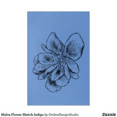 Shop Malva Flower Sketch Indigo Acrylic Print created by OmbreDesignStudio. Black Wall Art, Wood Wall Art, Black Art, Wall Art Decor, Holiday Cards, Christmas Cards, Flower Sketches, Elephant Gifts, Wall Decals