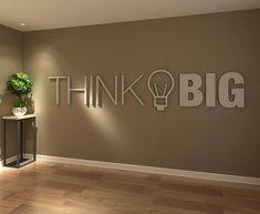 Think Big Ufficio Arte Muraria 3D Ufficio Design