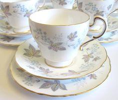 "Vintage 18 Piece China Tea Set, Paragon ""Enchantment"""