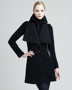 Ricci Wool-Blend Coat by Mackage at Neiman Marcus.