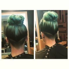 "rachelhack: ""Straight to the point. #undercut #haircut #aveda """