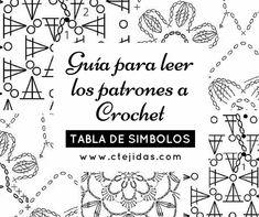 Guía para identificar los símbolos y poder leer los patrones o esquemas a crochet. Si haces clic en las imágenes te llevará al paso a paso de elaboración del punto. Ver Patrones de Crochet   Ver Puntos y Figuras  Ver Curso de Crochet Ayudas para Leer los Patrones Lección 37:Cómo leer los diagramas a crochet Crochet Basics, Crochet Tutorials, Notebook, Bullet Journal, Knitting, Cheat Sheets, Charts, Stitches, Knitting Paterns
