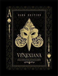 Venexiana Dark playing cards by Half Moon Playing Cards on Kickstarter.