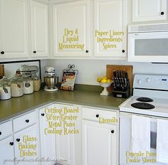 Love to bake? Check out this post loaded with ideas on how to utilize your kitchen space and create a baking zone. Via A Bowl Full of Lemons