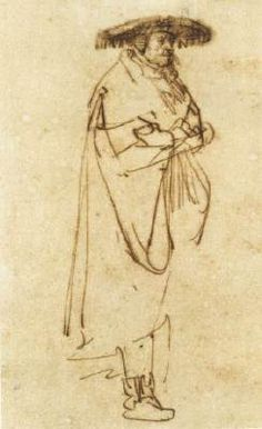 Page of Man with Wide-Brimmed Hat by REMBRANDT Harmenszoon van Rijn in the Web Gallery of Art, a searchable image collection and database of European painting, sculpture and architecture Life Drawing, Figure Drawing, Drawing Sketches, Painting & Drawing, Art Drawings, Sketching, Dutch Artists, Famous Artists, Rembrandt Drawings