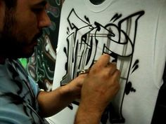 Airbrushed Graffiti Style Lettering with airbrush artist Art Solis