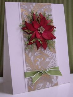 Elegant Poinsettia by Loll Thompson - Cards and Paper Crafts at Splitcoaststampers