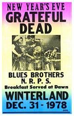 Grateful Dead Winterland Concert Poster - Remember the San Fransico Winterland Arena with this Grateful Dead Winterland Concert Poster 14 x 22, featuring the last show to ever have been played there on New Year's Eve of 1978.