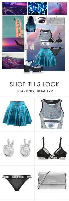 """""""Halsey"""" by abbeynewberry ❤ liked on Polyvore featuring Retrò, Topshop, Rock 'N Rose, Moschino and MICHAEL Michael Kors"""