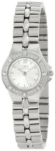 Invicta Women's 0135 Wildflower Collection Stainless Steel Watch Invicta. $63.29. Durable flame-fusion crystal; brushed and polished stainless steel case and bracelet; actual bracelet width 12 mm. Water-resistant to 165 feet (50 M). Textured stainless steel bezel. Precise Swiss-quartz movement. Silver dial with silver-tone hands, hour markers and roman numeral 12. Save 92% Off!