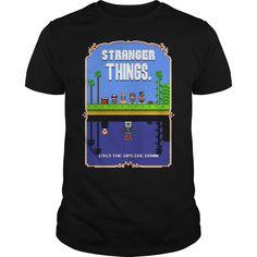 Stranger things mario bros 2 pixel art mashup tshirt - Tshirt