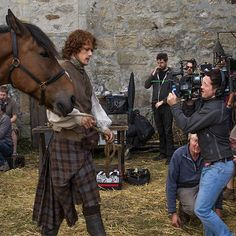 @SamHeughan certainly knows how to work the camera! #Outlander #BehindTheScenes