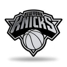 2ac595a41c7 Rico Industries NBA New York Knicks Chrome Finished Auto Emblem 3D  StickerSports amp  Outdoors