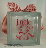 Holiday Extravaganza:  Gift Giving, Jingle All the Way Glass Block - DOstamping with Dawn, Stampin' Up! Demonstrator,, #dostamping, #stampinup