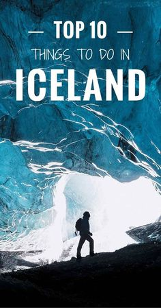 Sometimes called Crystal Caves, the ice caves inside Iceland's glaciers are a truly remarkable wonder of nature. Don't miss the top 10 things to do in Iceland!