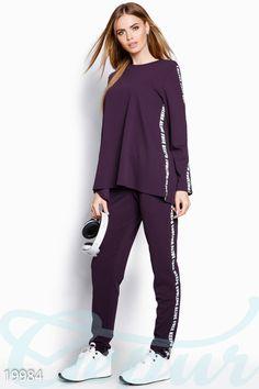 Брючный спортивный костюм Tall Girl Fashion, Sport Fashion, Teen Fashion, Fashion Outfits, Womens Fashion, Sporty Look, Fashion Sewing, Fashion Sketches, Indian Wear