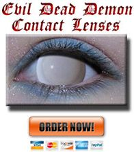 White Out Demon Contacts