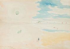 Léon Spilliaert, Plage au soleil vert, 1920