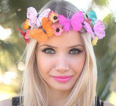 Coroinha de Flores Borboletas - G.Offer